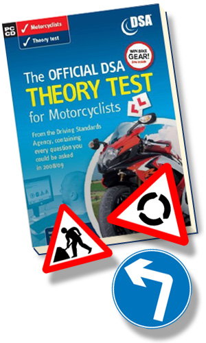 The motorcycle theory test